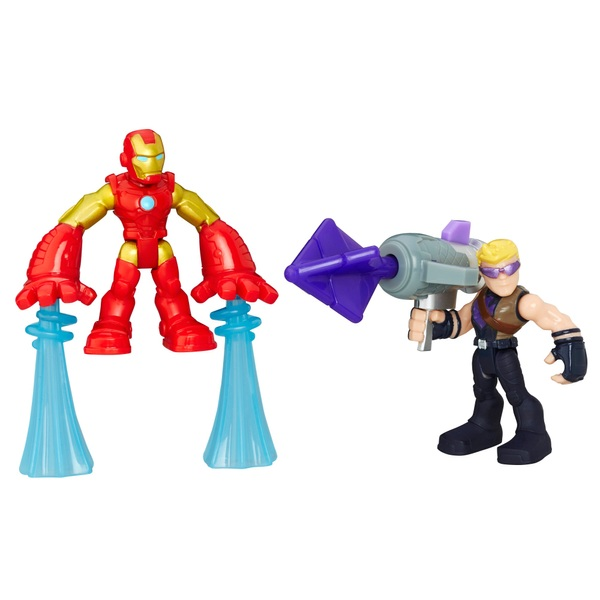 Iron Man and Marvel's Hawkeye Playskool Heroes Marvel Super Hero Adventures