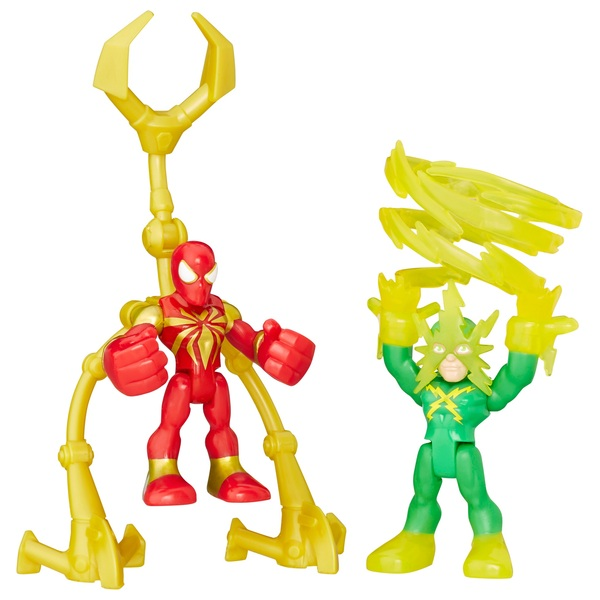Playskool Heroes Marvel Super Hero Adventures Iron Spider and Marvel's Elec