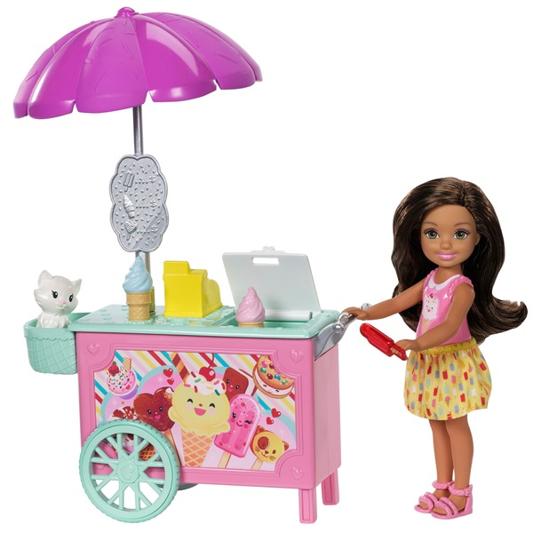 Barbie Club Chelsea Ice Cream Cart Doll & Playset