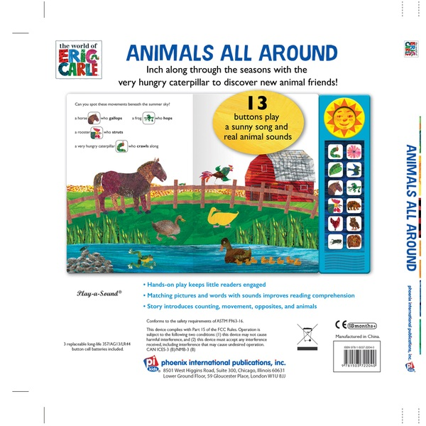 The Hungry Caterpillar: Animals All Around Sound Book by Eric Carle -  Educational Books Ireland