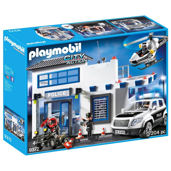 Playmobil 9372 city action police station playmobil uk - Playmobile policier ...
