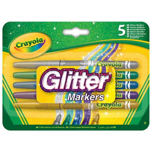 Crayola Glitter Markers 5 Pack