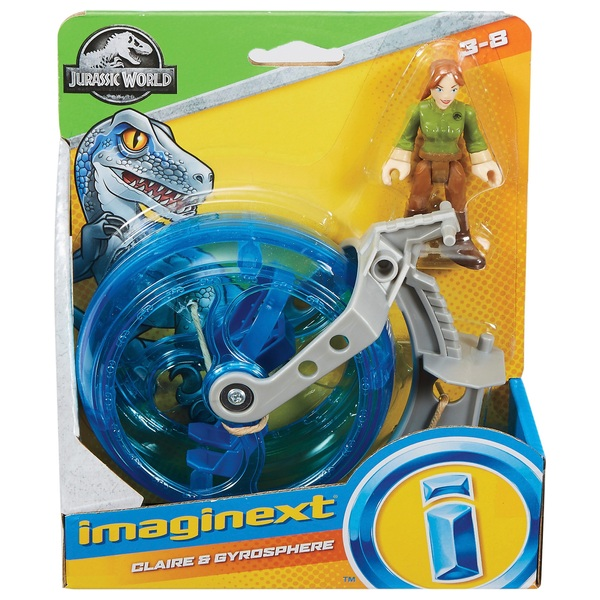 Jurassic World GYROSPHERE /& CLAIRE Play Set Mattel New