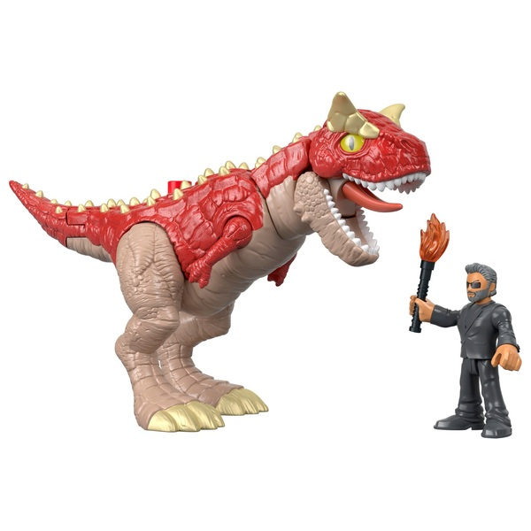 Imaginext Jurassic World Carnotaurus and Dr. Malcolm