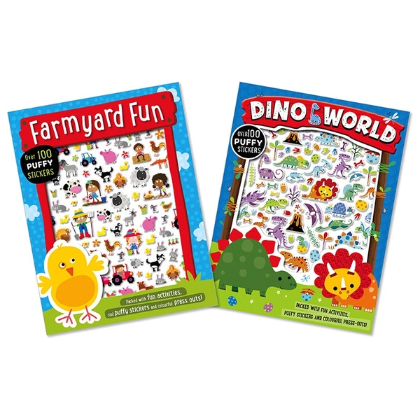 Dino World & Farmyard Fun Puffy Sticker Activity
