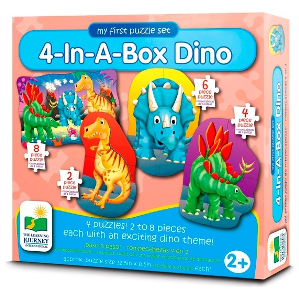 My First Puzzle Set - 4 in a Box Dinosaurs