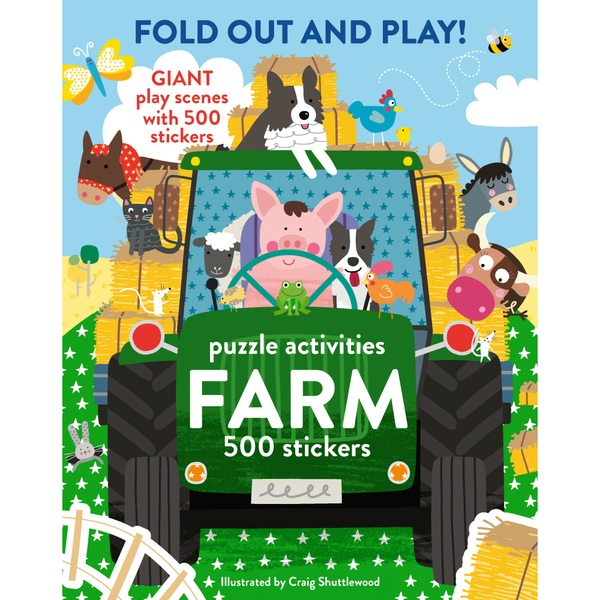 Fold Out and Play Farm Sticker Book