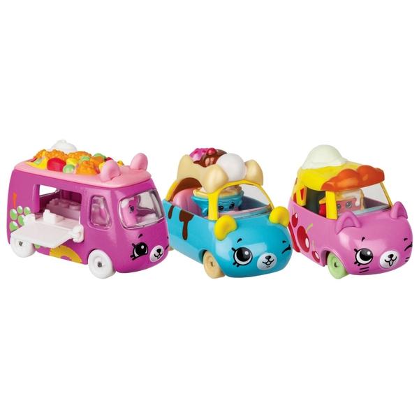 Shopkins Cutie Cars 3 Pack - Assortment Series 2