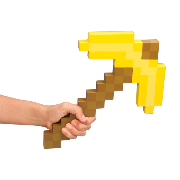 Minecraft Gold Pickaxe Role Play Accessory