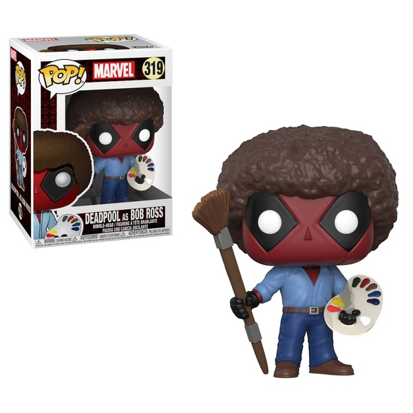 Pop! Vinyl: Deadpool as Bob Ross