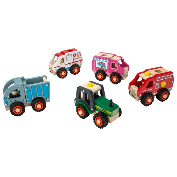 Squirrel Play Wooden Vehicle - Assortment