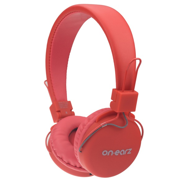 On Earz Lounge Headphones with Detachable Cable Red