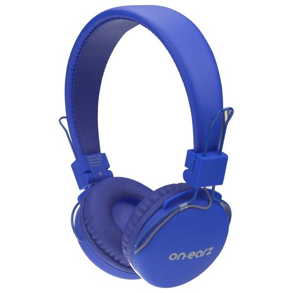 On Earz Lounge Headphones with Detachable Cable Blue