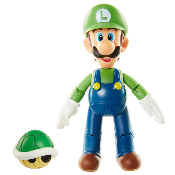 World of Nintendo 10 cm Figures Wave 13 - Luigi with Koopa Shell