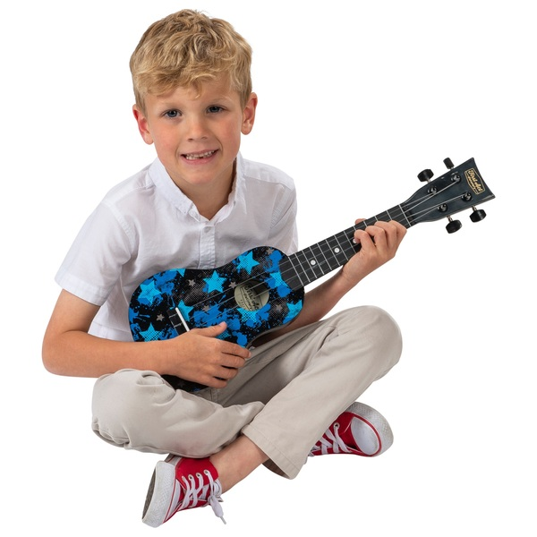 First Act Discovery - Ukulele (Black with blue stars)