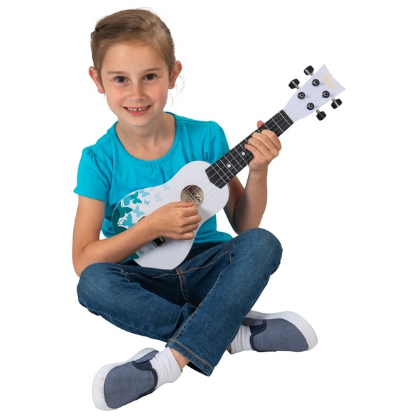 First Act Discovery - Ukulele (White with blue butterflies)