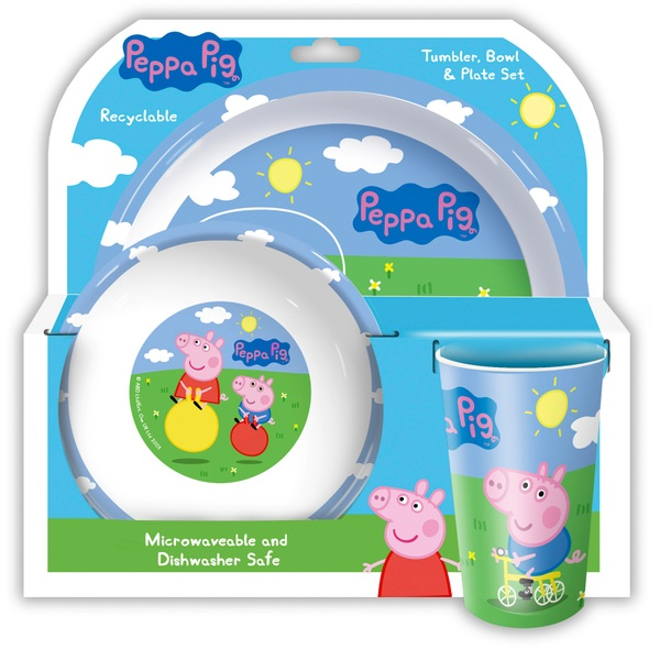 Peppa Pig and George Tumbler, Bowl and Plate Set Assortment