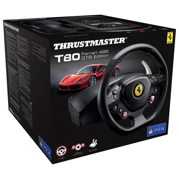 Thrustmaster T80 Ferrari 488 GTB Edition Racing Wheel for PS4/PC