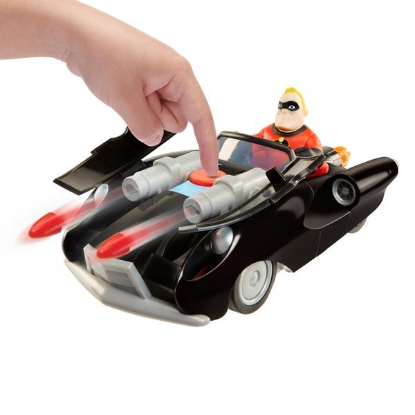 Disney Pixar Incredibles 2 Junior Supers Incredibile and Mr. Incredible Vehicle