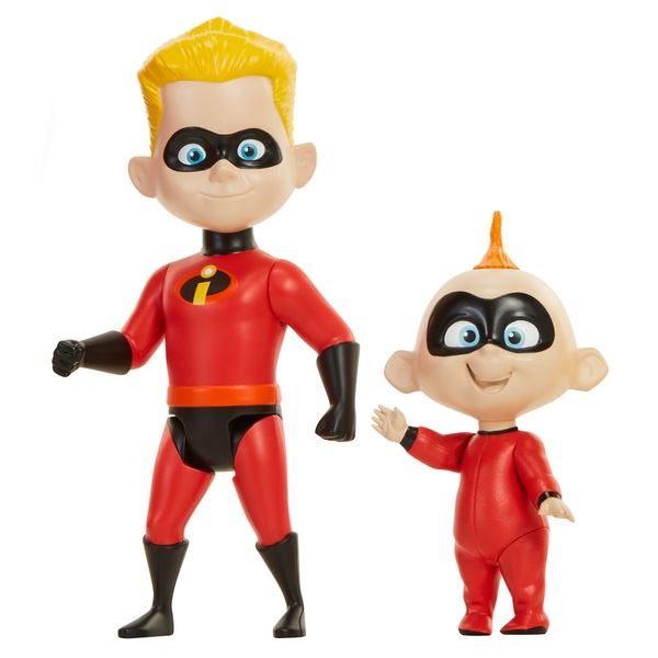 Disney Pixar Incredibles 2 Dash 20cm and Jack-Jack 12.7cm Figures