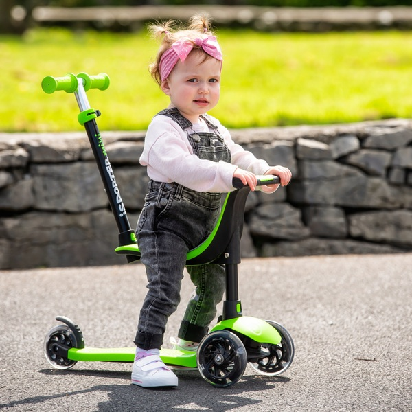 I-Sporter Mini 4-in-1 LED Lime Scooter