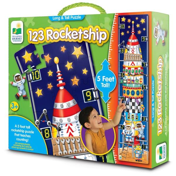 123 Rocketship Puzzle