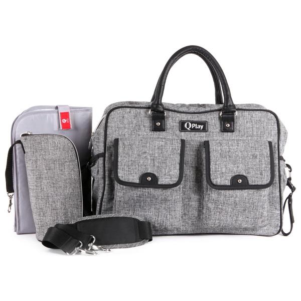 Q Play Travel Changing Bag - Grey