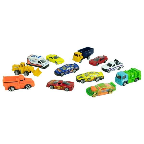 RevZ 12 Piece Diecast Car Set Assortment