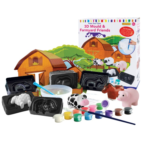 3D Mould & Paint Farmyard Friends