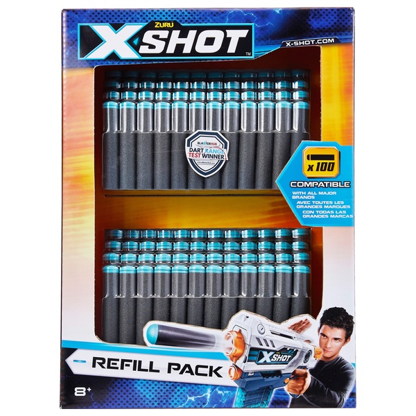 X-Shot Excel Universally Compatible Foam Darts Refill Pack (100 Darts)