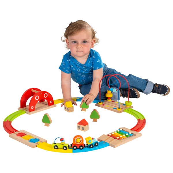Squirrel Play Wooden Rainbow Train Set