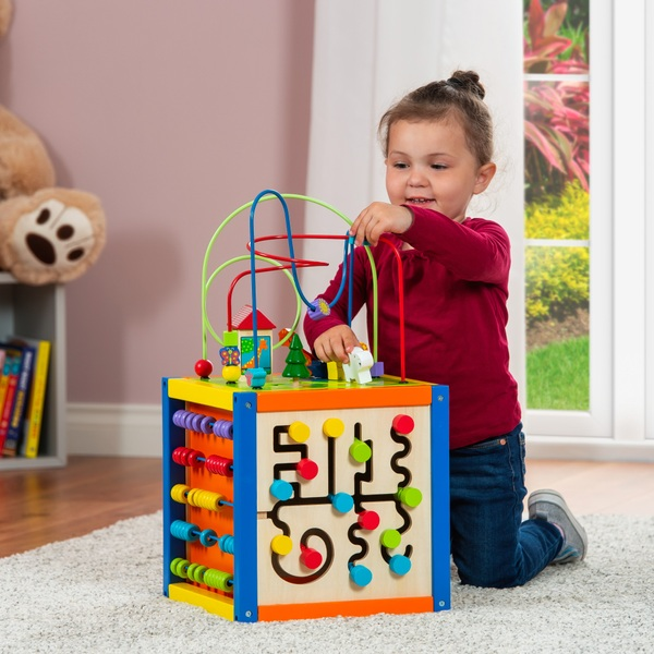 Squirrel Play Wooden 5-in-1 Activity Cube