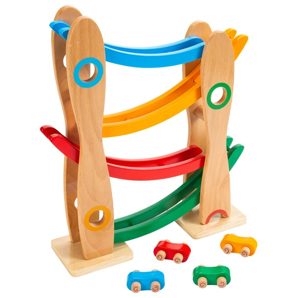 Squirrel Play Wooden Car Roll