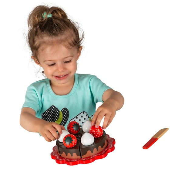 Squirrel Play Wooden Birthday Cake