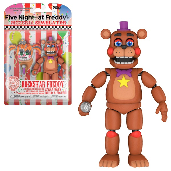 Five Nights at Freddy's Action Figure Pizza Sim Rockstar Freddy