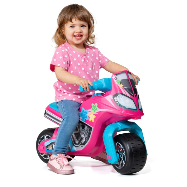 Molto Foot to Floor Ride On Motorbike Cross Pink/Blue