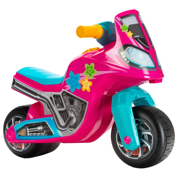 Molto Foot To Floor Ride On Motorbike Cross Pink Blue