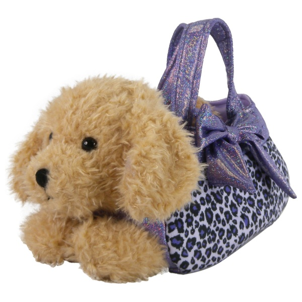 Puppy In Purple Carry Bag