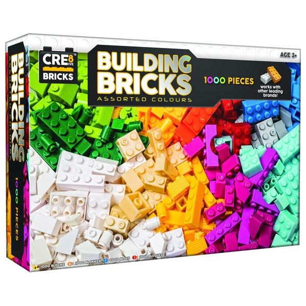 Cre8ive 1000 Piece Building Bricks Set