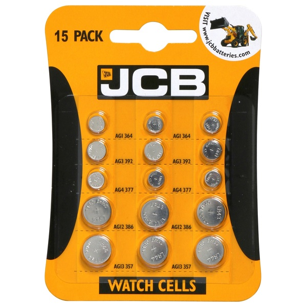 JCB Watch Cell Mix 15 Pack