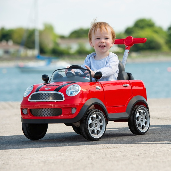 Mini Cooper Push Buggy Red