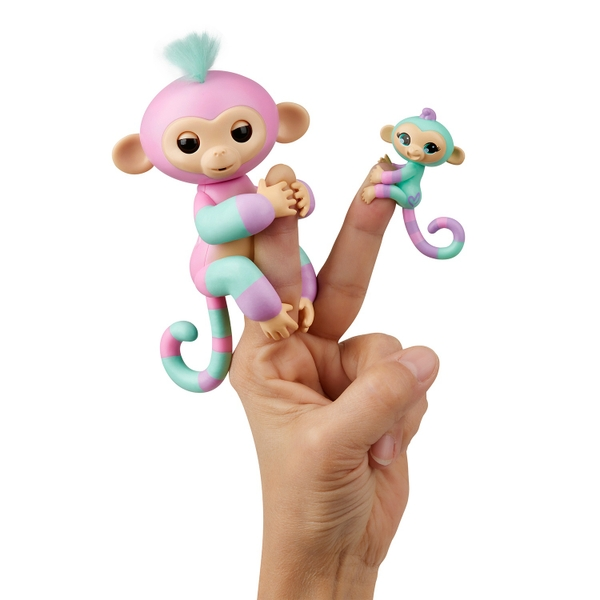 Fingerlings BFF Ashley and Mini Chance- Pink & Turquoise