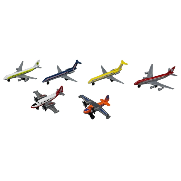 RevZ 6 Pack Diecast Aeroplanes - Diecast Cars & Playsets UK