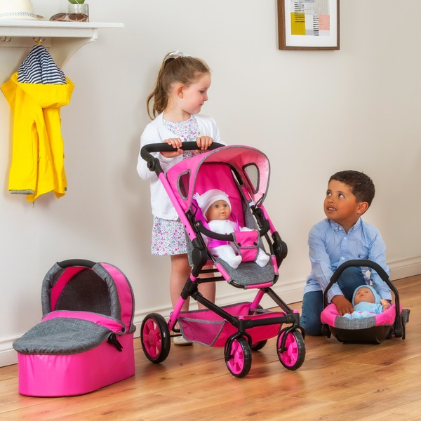 Maddison 3-in-1 Travel Stroller Pink