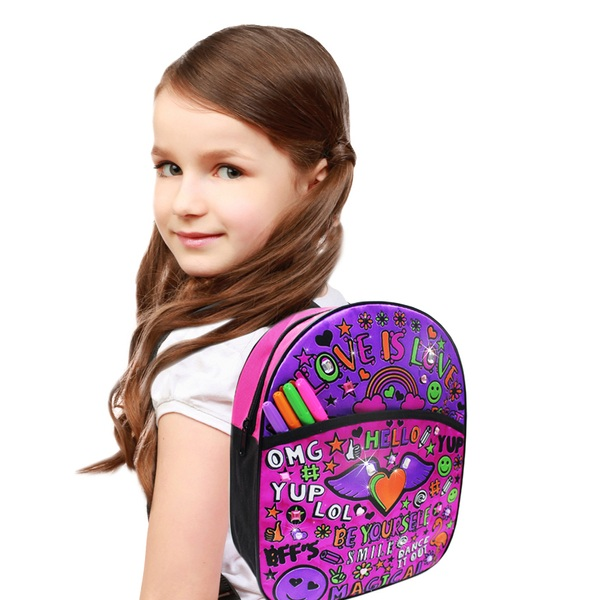 Crafty Little Kidz Colour Your Own fashion Gem backpack
