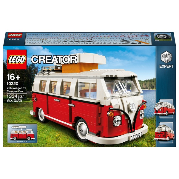 lego 10220 creator volkswagen t1 camper van construction toy lego exclusives and hard to find uk. Black Bedroom Furniture Sets. Home Design Ideas