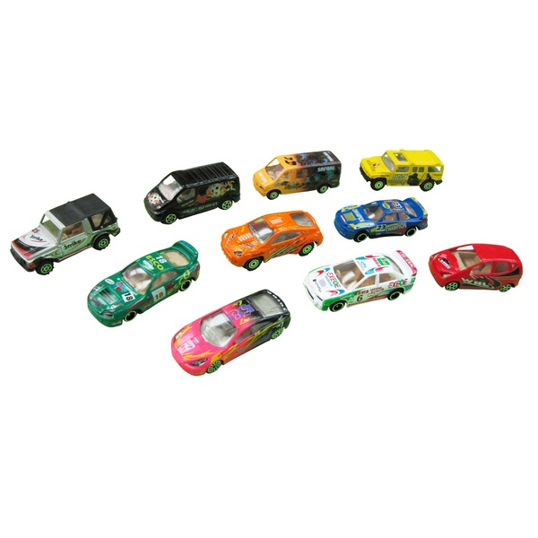 RevZ 10 Piece Diecast Vehicle Playset