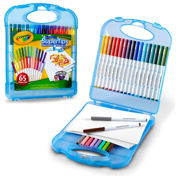 Crayola Supertips Colour and Create Case
