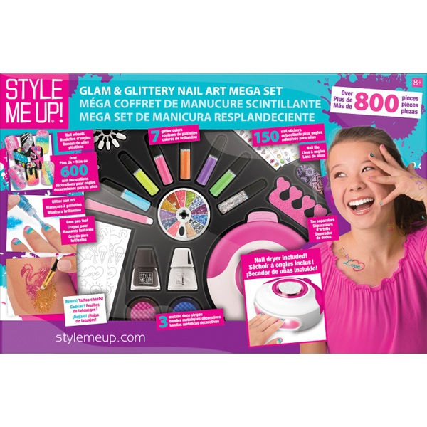 Style Me Up! Glam Glittery Nail Art Mega Set