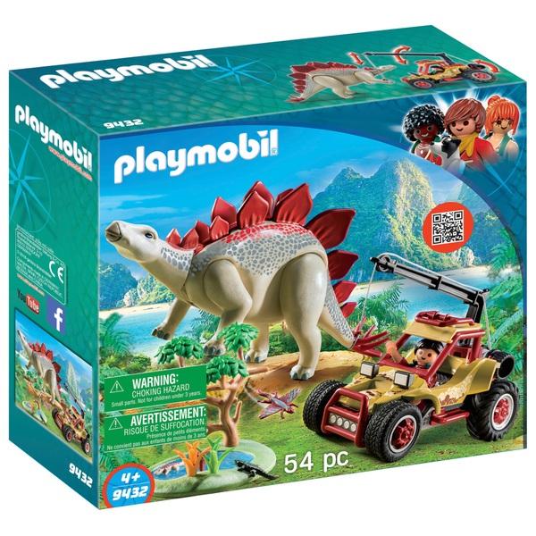 Playmobil 9432 Dinos Explorer Vehicle with Stegosaurus